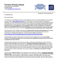 year 6 secondary transition letter
